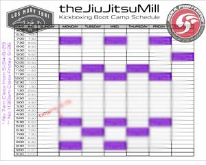 Download Kickboxing Schedule