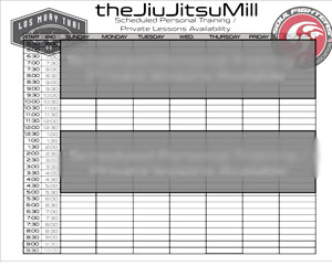 Download Personal Training Schedule